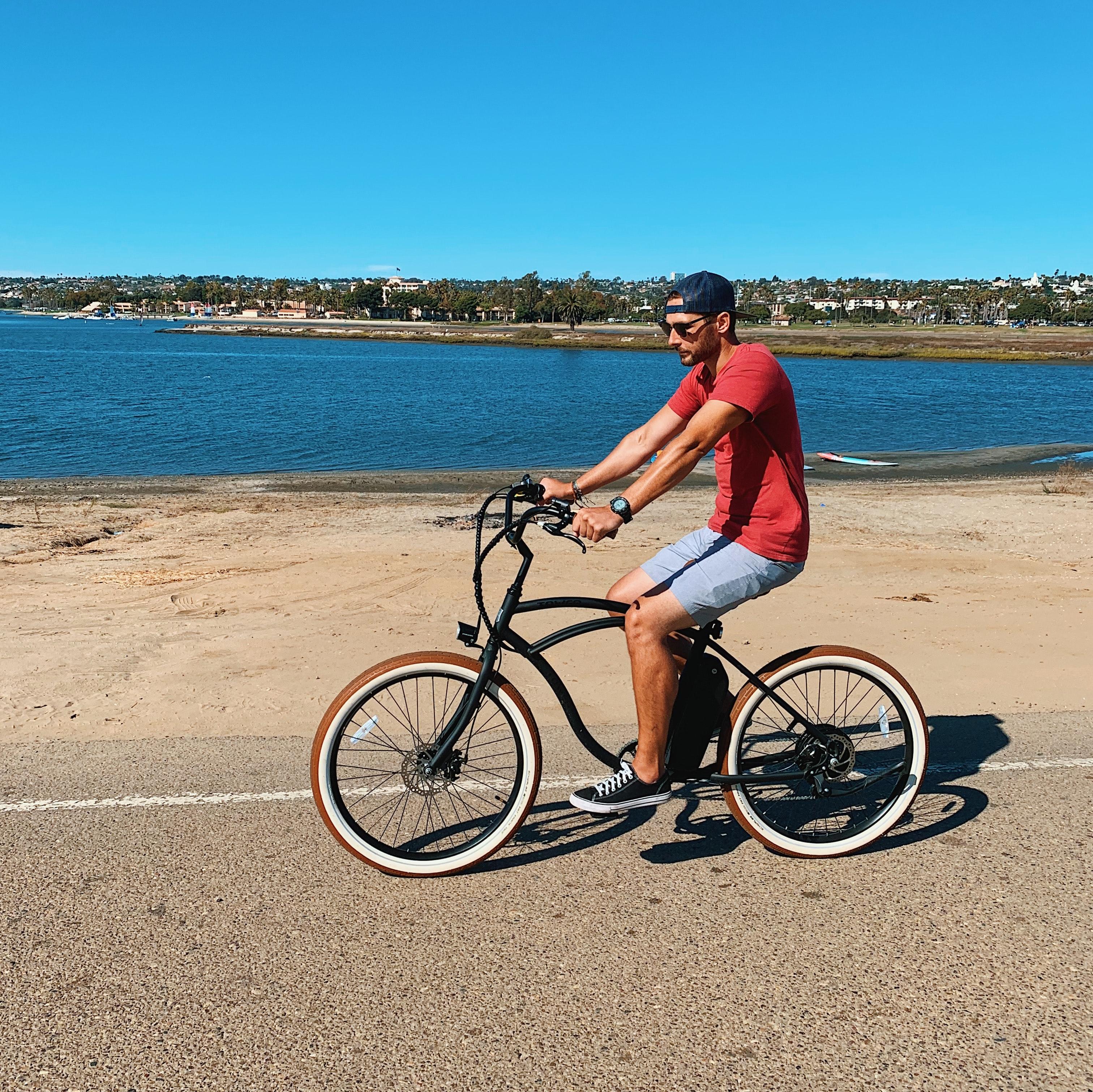 el cykel ved strand